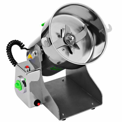 220V Electric Herb Grinding Machine Cereal Wheat Powder Mill Flour Grinder NEW