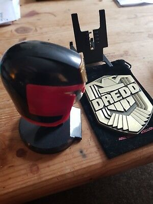 Judge Dredd badge and mini helmet  From 2000ad comic