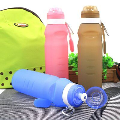 Reusable Sports Travel Portable Collapsible Folding Drink Water PQ