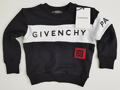 New Givenchy Paris Kids Boy's Girls Model 100% Cotton Logo Brand Tags Black