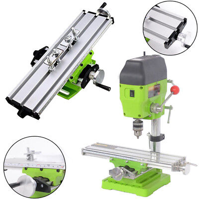Double Track Milling Machine  Table Cross Slide Bench Drill Press Vise Fixture