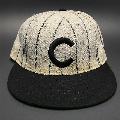 a2be6a0aca933 VTG Chicago Cubs American Needle MLB Baseball Pinstripe Wool Fitted Hat 7 1  8