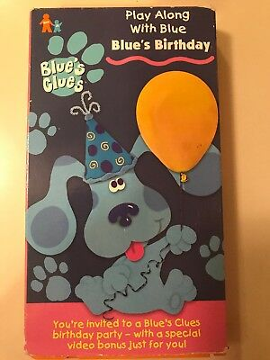 Blues Clues Blues Birthday Vhs 1998 200 Picclick