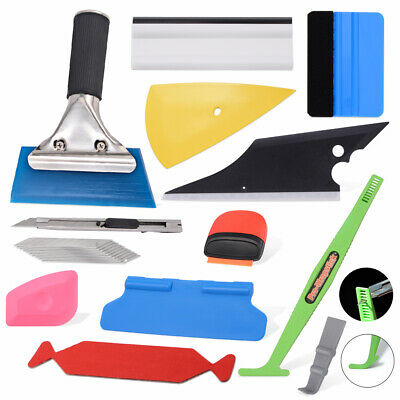 Vehicle Car Window Wrapping Tint Vinyl Install Tool Rubber Squeegee Film Kit UK