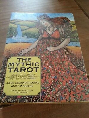 The Mythic Tarot Juliet Sharman Burke and Liz Greene Sealed Cloth and Book