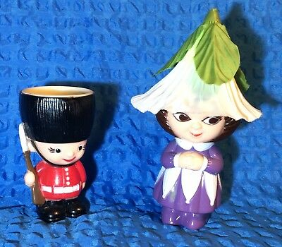 Vintage Soldier and Victoria Plum plastic Egg Cups