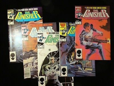 Punisher Limited Mini Series #1 2 3 4 5 Complete Set Run Lot 1-5
