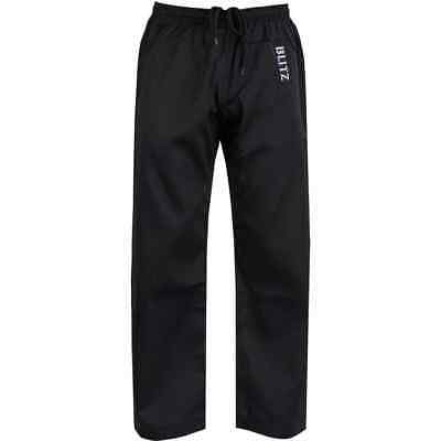 Blitz Black Adult Polycotton Karate Trousers