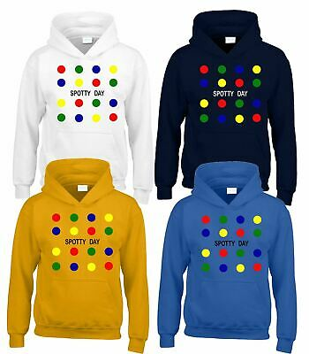 Dotty Coloured Square Kids Hoody Children Girls Boys PullOver Hoodie Dotted Hood