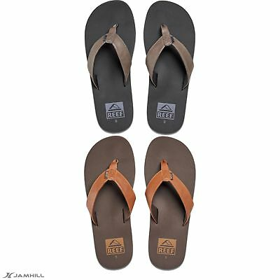 a463afef82607d REEF MEN S TWINPIN Flip Flops Vegan Leather Upper Arch Support - £22.20
