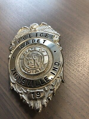 Rare Original Vintage Zionsville Indianapolis Police Cadet Badge Antique Indiana
