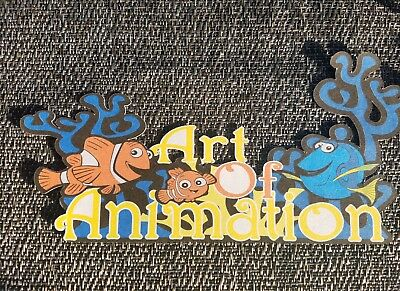 Disney inspired art of animation  nemo title printed scrapbook page die cut