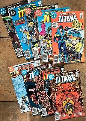 DC - Tales of The Teen Titans #52, 56, 57, 58, 59, 60, 61, 62, 63 VG to NM