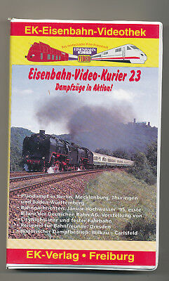 Eisenbahn Video Kurier 23 Damfzüge in Aktion VHS