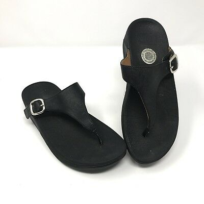 cdb3a8f48c15 FitFlop Thong Sandals Size 5 Black Toning Micro Wobble Board 316.41