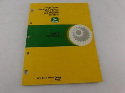 John Deere Parts Catalog General Purpose Wide Tread and Orchard Tractors PC50R