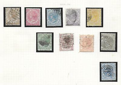 Malaya/STRAITS stamps 1868 Collection of 10 CLASSIC stamps HIGH VALUE!