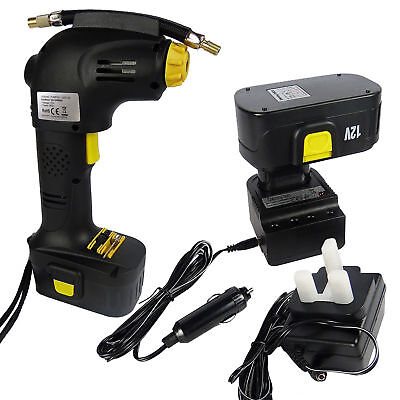 12V Rechargeable Cordless Tyre Inflator Portable Car Bike Air Compressor Pump
