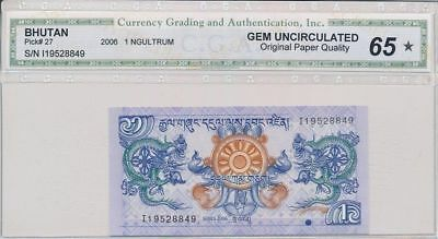 Royal Monetary Authority of Bhutan Bhutan 1 Ngultrum 2006 Gem UNC