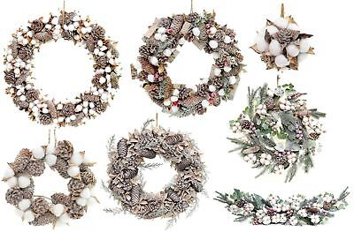 Real Cotton Boll Decorated Wreath Garland Christmas Xmas Home Decorations Decor