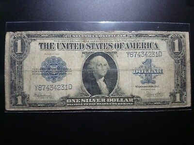 1923 $1 Usa Dollar United States Note Silver Certificate Y/d Block Dollar Rare !