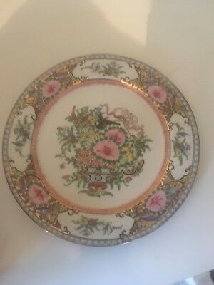 Rare Vintage Chinese Famille Rose Plate With Markings