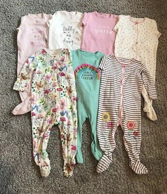 Baby Girls Next Sleepsuit Bundle - 9-12 Months *Good Condition*