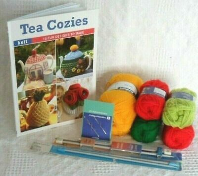 KNITTING KIT Knit your own Tea Cosy in reusable TOTE bag