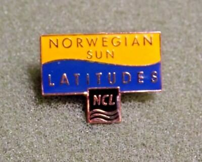 Norwegian Sun Latitudes NCL Lapel Pin Norwegian Cruise Ship Line Launched 2001