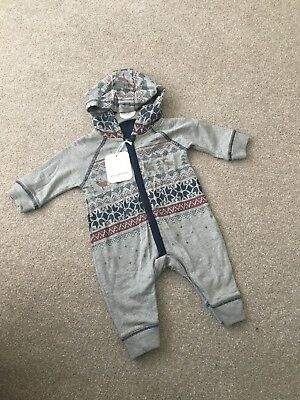 BNWT New Baby Boys Christmas Reindeer Hooded Outfit Bnwt Age 0-3 Months