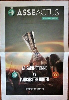 2016-17 ST ETIENNE v MANCHESTER UNITED, EUROPA LEAGUE, OFFICIAL PROGRAMME