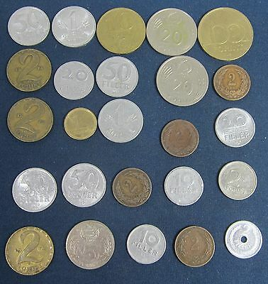 25 old Hungary coins 1897+