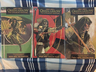 Green Arrow Longbow Hunters (1987) DC - #1,#2,#3, Mike Grell