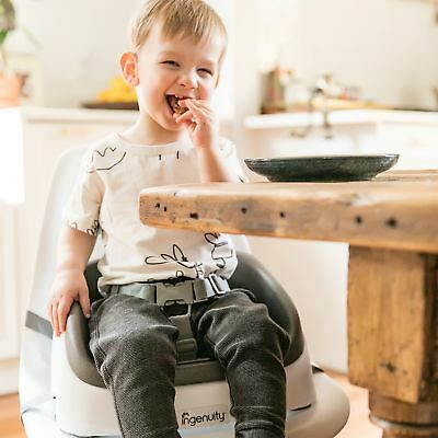 Easy-To-Clean-Ingenuity Toddler-Booster Chair-Seat With-Straps-Slate Smartclean