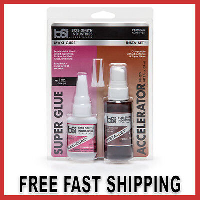 Combo Pack CA And Accelerator Super Glue Bond Any Surface Extra Strength Thick