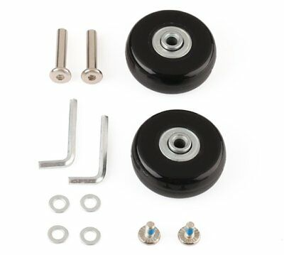 2 X OD 50mm Luggage Suitcase Replacement Wheels Axles Wrench Repair Kit