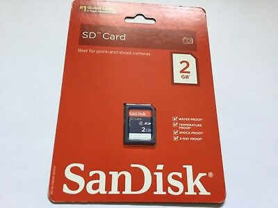 1pcs New 2gb Sandisk standard SD MEMORY CARD older NIKON CANON SD CAMERAS