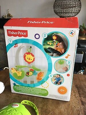 Fisher Price Grow With Me Cot and Travel Mobile BNIB