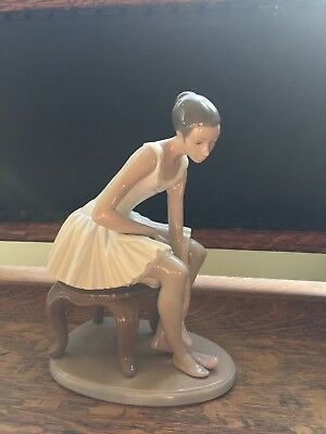 """NAO by Lladró """"Ballerina Outing On Shoes"""" Porcelain Figurine"""