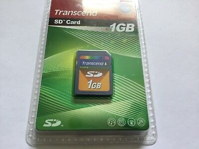 1pcs New 1gb TRANSCEND standard SD MEMORY CARD older NIKON CANON SD CAMERAS