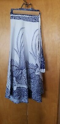 Vintage Women's Clothing Wrap around Skirt 100% cotton made in India sz small