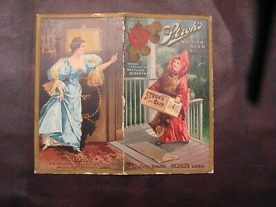 B. Stroh Brewery Victorian Trade Card - Very Old - 1890's Testimonials