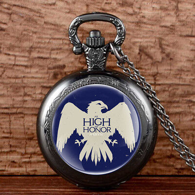 Antique Game Of Thrones House Arryn Quartz Pocket Watch Necklace Retro Gift New