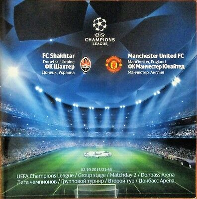 2013-14 SHAKHTAR DONETSK v MANCHESTER UNITED, CHAMPIONS LEAGUE, MINT