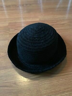 4adc0a8c576 Betmar New York Hat Ribbed Textured Knit Acrylic Black Sun Hat Cap Fedora