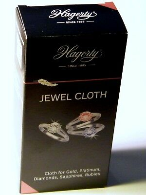 Hagerty Jewel Cloth Cleaning Polishing Gold Diamonds Rubies Sapphires Jewellery