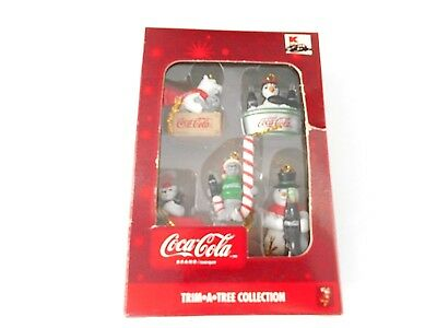 Coca-Cola Trim A Tree Christmas Mini Ornaments Polar Bear Seal Penguin Snowman