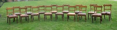 Sixteen Arts and Crafts Oak Dining Chairs