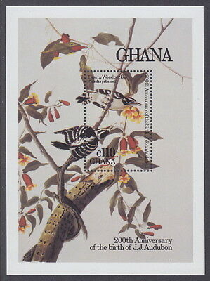 GHANA - 1985 Birth Bicentenary of John J Audubon MS - UM / MNH