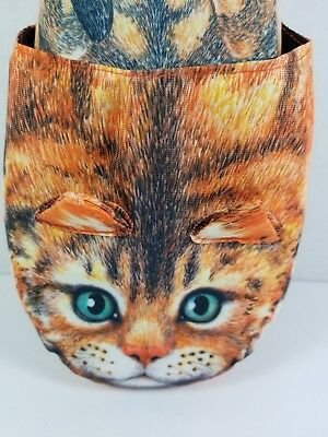 "Vintage 1994 Orange Tabby Cat ""Kitty Slippers,"" One Size Fits All, Brand New"